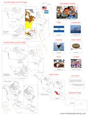 North America Deluxe Geography Bundle NCB - Printable Montessori Geography Materials by Montessori Print Shop.