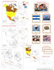North America Deluxe Geography Bundle - Printable Montessori Geography Materials by Montessori Print Shop.