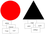 Noun and Verb Lesson - Printable Montessori Learning Materials by Montessori Print Shop.