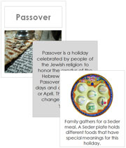 Passover Cards and Booklet - Printable Montessori Learning Materials by Montessori Print Shop.
