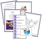 Peace Table Cards - Printable Montessori Learning Materials by Montessori Print Shop.