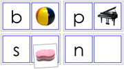 Phonetic Matching Cards (Set 2) - Printable Montessori Learning Materials by Montessori Print Shop.