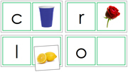 Phonetic Matching Cards (Set 3) - Printable Montessori Learning Materials by Montessori Print Shop.