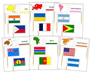 Pin Map Flags Bundle - Printable Montessori Materials by Montessori Print Shop. - Montessori Materials