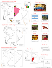 South America Deluxe Geography Bundle NCB - Printable Montessori Geography Materials by Montessori Print Shop.