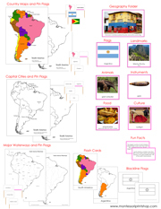 South America Deluxe Geography Bundle - Printable Montessori Geography Materials by Montessori Print Shop.