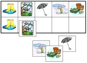 Spring Match-Up & Memory Game - Printable Montessori Learning Materials by Montessori Print Shop.