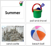 Toddler Summer Season Cards - Printable Montessori Learning Materials by Montessori Print Shop.