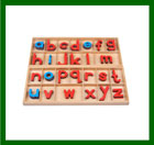 Wooden Print Moveable Alphabets and alphabet cards