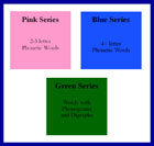 Montessori Pink Blue Green Language Series by Montessori Print Shop
