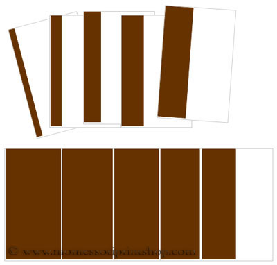 Broad/Brown Stair Cards (cornered) - Printable Montessori Sensorial Materials for Montessori Learning at home and school.