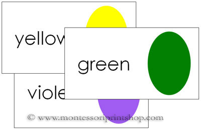 Color Cards Set 2 - Printable Montessori Sensorial Materials for Montessori Learning at home and school.