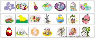 Easter Cutting Strips - Printable Montessori materials that save teachers time for Montessori Learning at home and school.