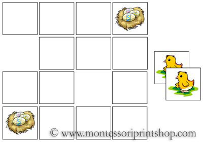 Easter Memory Game for Montessori Learning at home and school