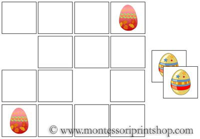 Egg Memory Game for Montessori Learning at home and school