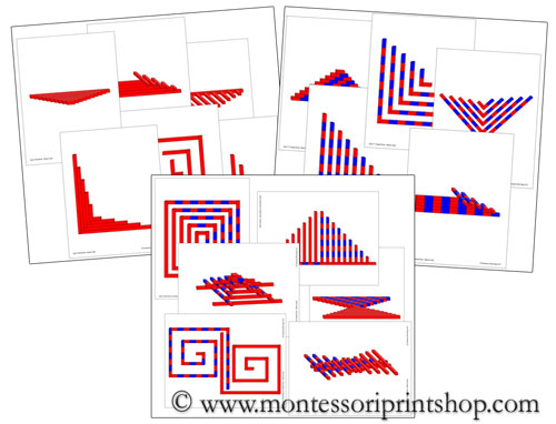 Red Rods & Number Rods Pattern Cards Bundle