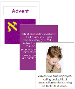 Advent Cards and Booklet - Printable Montessori celebration materials by Montessori Print Shop.
