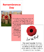 Remembrance Day Cards and Booklet - Printable Montessori celebration materials by Montessori Print Shop.