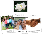 Peace Is ... - Printable Montessori materials by Montessori Print Shop.