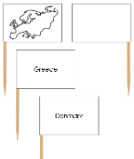 Europe - pin flags - Printable Montessori geography materials by Montessori Print Shop.