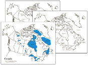 Canadian Bodies of Water (Maps) - Printable Montessori Geography Materials by Montessori Print Shop.