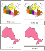 Canadian Provinces & Territories 3-Part Cards - Printable Montessori Geography Materials for home and school.