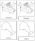 Canadian Provinces & Territories (No Color) - Printable Montessori geography materials by Montessori Print Shop.