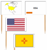USA State Flags - Pin Map Flags (color-coded) - Printable Montessori Geography Materials by Montessori Print Shop.