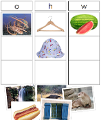 Phonics Sound and Picture Sorting - Printable Montessori preschool materials by Montessori Print Shop.