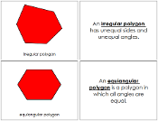 The Study of a Polygon Book - Printable Montessori Geometry Materials by Montessori Print Shop.