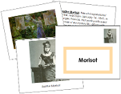 Berthe Morisot Art Book - Printable Montessori materials by Montessori Print Shop.