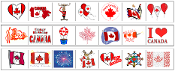 Canada Day Cutting Strips - Printable Montessori preschool Materials by Montessori Print Shop.
