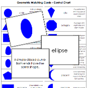 Geometric Matching Cards - Printable Montessori Math Materials by Montessori Print Shop.
