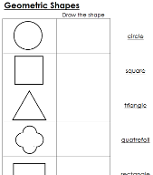 Worksheets for Geometric Shapes - Printable Montessori math materials by Montessori Print Shop.