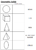 Worksheets for Geometric Solids - Printable Montessori math materials by Montessori Print Shop.