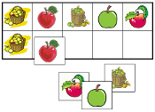 Apple Match-Up & Memory Game - Printable Montessori preschool materials by Montessori Print Shop.