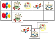 Birthday Match-Up & Memory Game - Printable Montessori preschool materials by Montessori Print Shop.