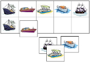 Boat Match-Up & Memory Game - Printable Montessori preschool materials by Montessori Print Shop.
