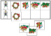 Christmas Match-Up & Memory Game - Printable Montessori preschool materials by Montessori Print Shop.