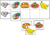 Food Match-Up & Memory Game - Printable Montessori preschool materials by Montessori Print Shop.