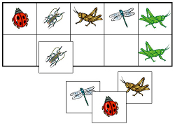 Insect Match-Up & Memory Game - Printable Montessori preschool materials by Montessori Print Shop.