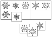 Snowflake Match-Up & Memory Game - Printable Montessori preschool materials by Montessori Print Shop.