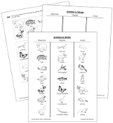 Animals in Winter Blackline Masters - printable Montessori science materials by Montessori Print Shop