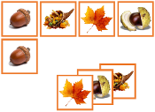 Autumn Matching Cards - Printable Montessori preschool materials by Montessori Print Shop.