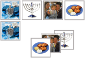 Hanukkah Matching Cards - Printable Montessori preschool materials by Montessori Print Shop.