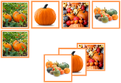 Pumpkin Matching Cards - Printable Montessori preschool materials by Montessori Print Shop.