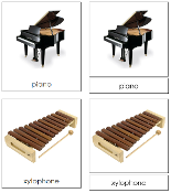 Musical Instrument Cards - Printable Montessori Classified Cards by Montessori Print Shop.