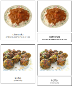 African Food Cards - Printable Montessori geography materials by Montessori Print Shop.
