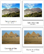 African Landmark Cards - Printable Montessori geography materials by Montessori Print Shop.
