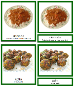 African Foods - Printable Montessori geography materials by Montessori Print Shop.